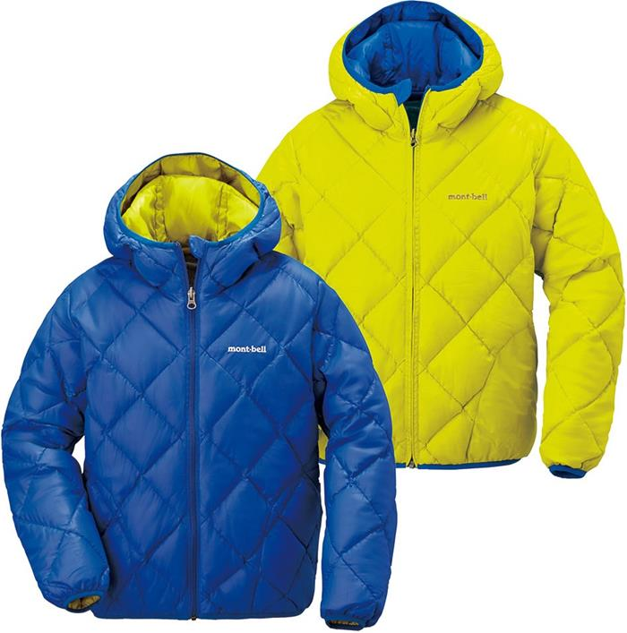 Mont-Bell 雙面羽絨外套 兒童款7-13歲 Reversible Down Parka 1101487 RB/LY 寶藍/檸黃