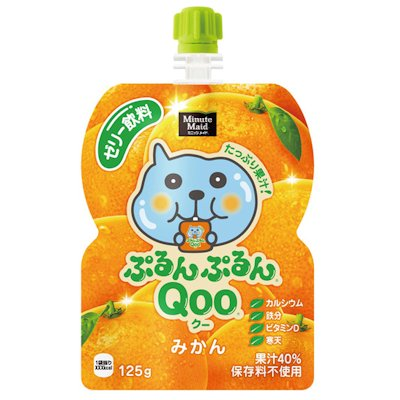 Qoo果凍飲便利包-橘子(125g) 果汁含量40%