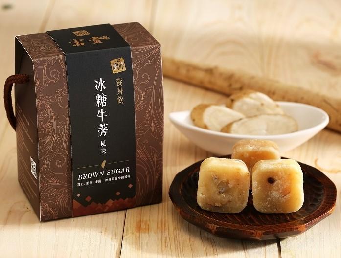 【糖鼎養生鋪】★禮盒包裝★冰糖牛蒡茶磚(35克x14顆獨立包裝)