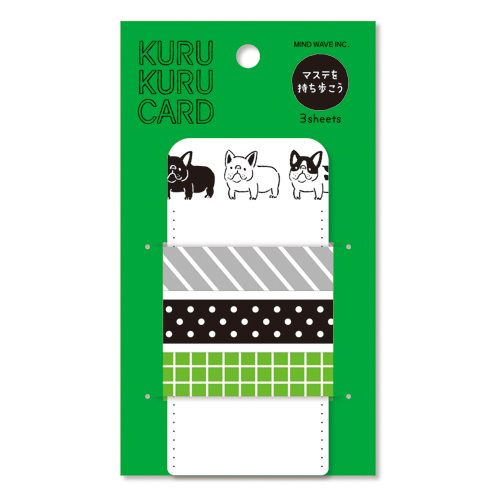 *小徑文化*日本進口 MIND WAVE KURU KURU CARD 紙膠帶分裝片 - buru buru 狗 ( 92839 )