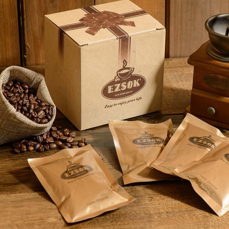 手工原豆咖啡禮盒組-肯亞AA咖啡豆15g袋裝+專利沖泡組
