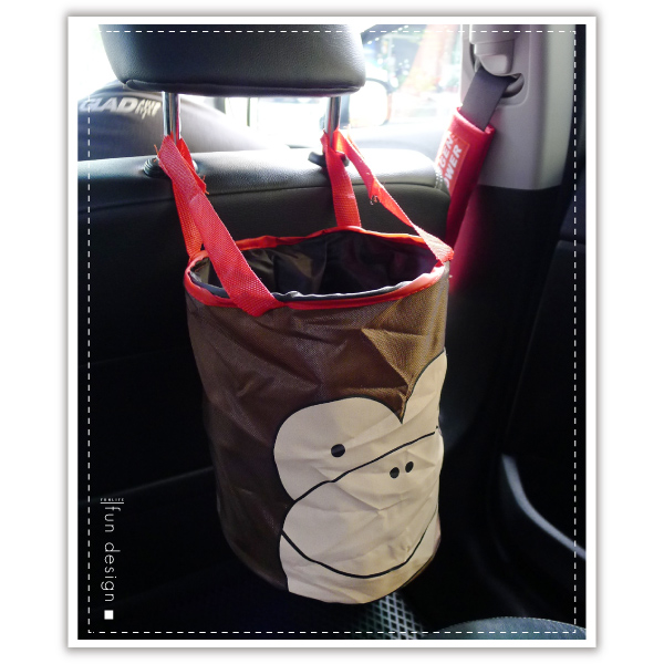 【aife life】車用動物摺疊收納筒-多款/韓系垃圾桶/魔鬼氈 多功能 收納桶/汽車掛式 折疊 收納籃/飲料放置