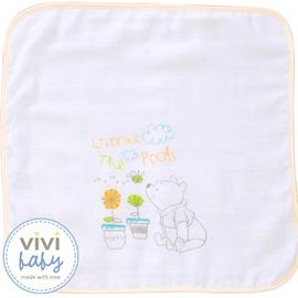 ViViBaby - Disney迪士尼小熊維尼雙面手帕 (毛巾+紗布)