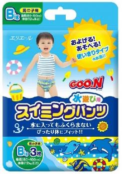 日本大王 戲水褲 男褲 XL號 3入 (80cm-100cm)