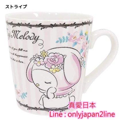 【真愛日本】16092100004馬克杯-MD玫瑰  三麗鷗家族 Melody 美樂蒂  馬克杯 水杯  杯子 正品