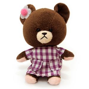Bear School 小熊學校 台版 - Jackie熊玩偶10cm-紫色睡衣「新品」
