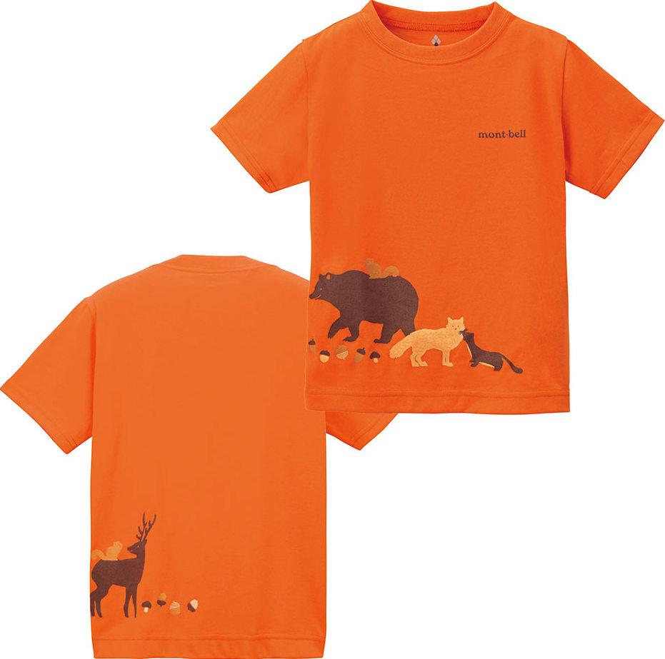 [ Mont-Bell ] 兒童排汗短T/幼童排汗衣 Wickron 1114216/1114217 FOG 山的朋友橘
