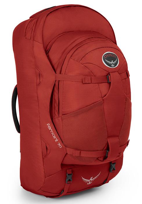 【鄉野情戶外專業】 Osprey |美國|  Farpoint70 自助旅行子母背包/多功能自助行背包 子母包-寶石紅M/L/Farpoint 70 【容量70L】