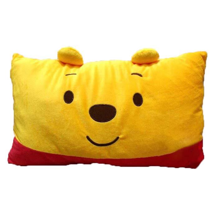 【真愛日本】15121500042大臉雙人枕-維尼  迪士尼 維尼家族  靠枕  抱枕  擺飾