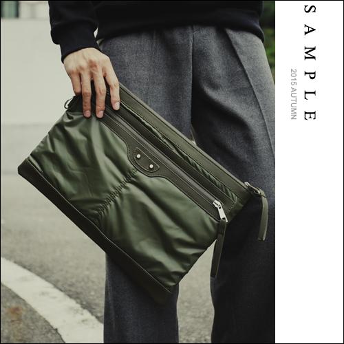 公事包【SA15013】韓國空運 尼龍材質空氣感手拿包【Sample】