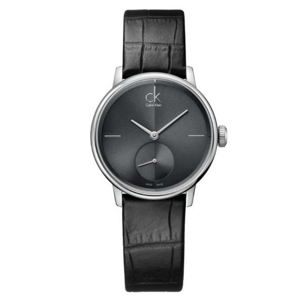 CK 日月光系列(K2Y231C3)小秒針質時尚腕錶/黑面32mm