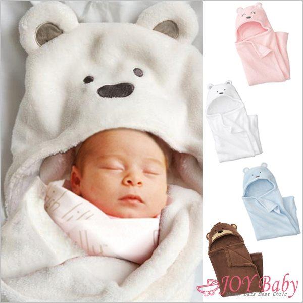 包被/睡袋/蓋毯/包巾/珊瑚絨動物造型連帽毛毯 嬰兒包被毯子 新生兒包巾被毯【JoyBaby】