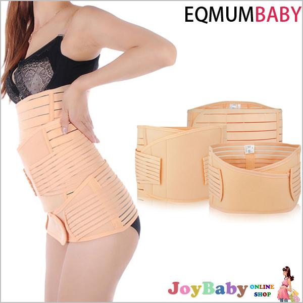 束腹帶+骨盆帶+產後收胃帶/收腹帶/孕婦裝/孕婦褲/優質高彈力分段式(三件組)【JoyBaby】