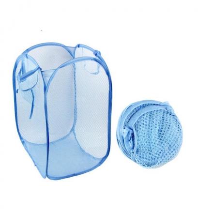 洗衣籃 - 折疊網格洗衣籃,多色隨機發貨