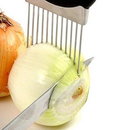 切菜輔助器  304不銹鋼 水果洋蔥叉洋蔥插 護手 牛排豬大排嫩肉針【Casa Mia】