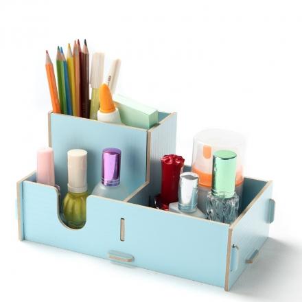 文件盒 - 韓版木質文件收納盒/筆筒收納箱