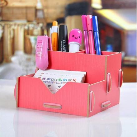 文件盒 - 韓版木質創意筆筒/文具收納盒-收納箱