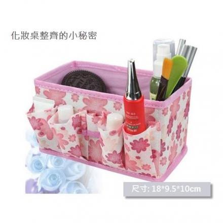 【任3件$99】小物收納 - 化妝品/小物收納盒,尺寸: 18*9.5cm,多色隨機發貨