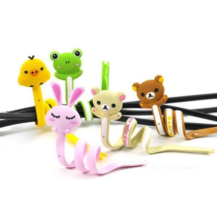 【任3件$99】繞線器- Q版可愛動物系列長條繞線器/理線器/卷線器/集線,3入