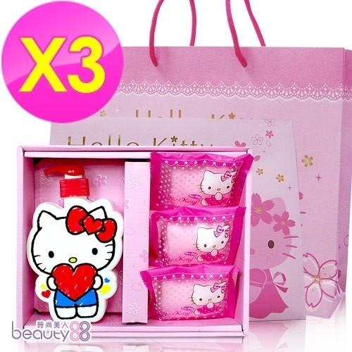 142787 Hello Kitty 40周年造型SPA禮盒(1沐浴3皂)含紙袋(3盒)