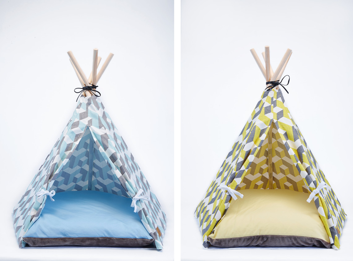 【Hello Jello】韓國TEPEE STYLE PET HOUSE-寵物戶外/室內雙色錐形帳篷