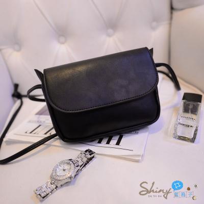 【P009】shiny藍格子-時尚復古.新款可愛單肩斜跨包小方包