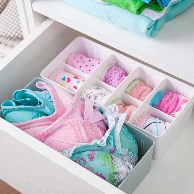 自由組合分隔襪子內衣褲收納盒 分類盒《隨機出貨不挑色》