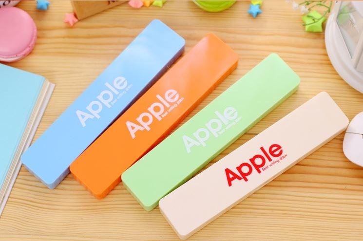 韓版文具Apple糖果色文具盒筆盒多功能迷你文具盒/婚禮小物 19元