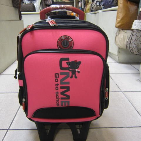 ~雪黛屋~UNME可拆式拉桿背包 個人登機箱 拉桿背包 書包 外出旅行上學工作萬用功能#3327粉紅