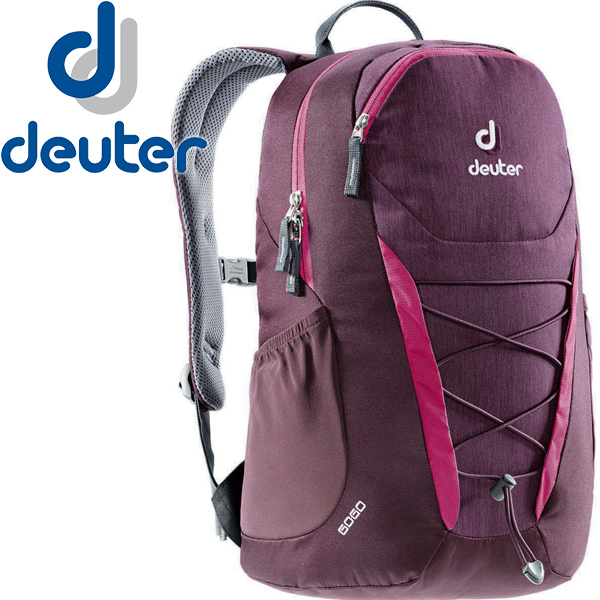【露營趣】中和 送手電筒 deuter 3820016 GoGo 25L休閒旅遊背包 登山背包 健行背包(黑莓紫)