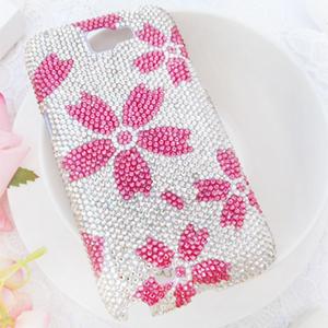 Samsung Note2 甜蜜記憶-吉野櫻 華麗貼鑽手機殼 Enya恩雅(捷克水晶鑽)(郵寄免運)