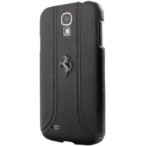 Samsung S4 法拉利正品 真皮背蓋-黑 手機殼 Enya恩雅(郵寄免運)