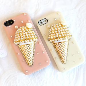 iPhone5S 水鑽冰淇淋 清新貼鑽手機殼 Enya恩雅(捷克水晶鑽)(郵寄免運)