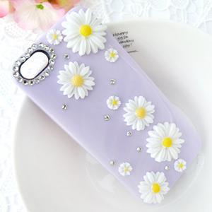 iPhone5S.5C 純真雛菊 清新貼鑽手機殼 Enya恩雅(捷克水晶鑽)(郵寄免運)