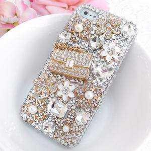 iPhone5S 多層次花朵金鍊包 華麗貼鑽手機殼 Enya恩雅(捷克水晶鑽)(郵寄免運)
