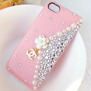 iPhone5S.5C 翻玩小香風手拿包造型 清新水鑽手機殼 Enya恩雅(捷克水晶鑽)(郵寄免運)