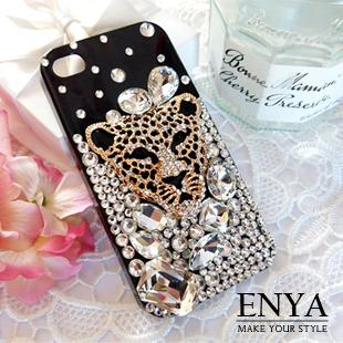 iPhone5S.5C 琉璃晶鑽個性鑽豹 清新手機貼鑽殼 Enya恩雅(捷克水晶鑽)(郵寄免運)