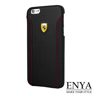 iPhone6+/6S+ Plus 5.5吋 法拉利原廠 賽道PU背蓋 黑色 Enya恩雅