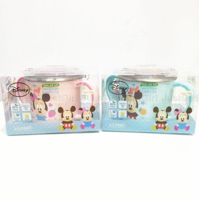 迪士尼 米奇 米妮 唐老鴨 黛西 LILFANT 兒童 水杯 杯子 雙耳 304不鏽鋼 隔熱杯 附蓋 餐具 正版韓國製造進口