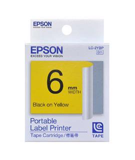 【OKIN】EPSON LC-2YBP C53S623003標籤帶(粉彩6mm)黃底黑字 標籤機