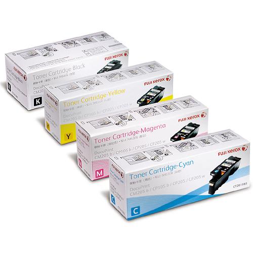 【免運】★分期0利率★原廠碳粉匣 Fuji Xerox CT201591/CT201592 /CT201593 /CT201594 (四色一組)適用 DocuPrint CP105 b/CP105b/CP205/CM205 雷射印表機