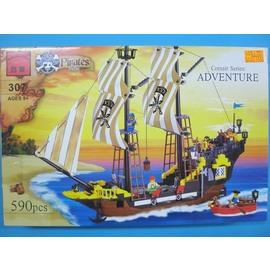 啟蒙積木 307 冒險號海盜船積木(大) 約有590片/一盒入{特1000}