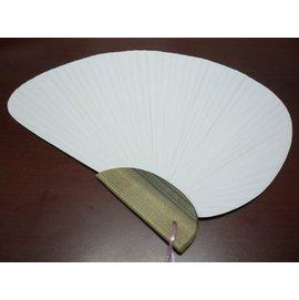 千鳥空白紙扇子 日系半圓彩繪扇子(大號/木柄.竹桿雙面紙)/一支入{促60}