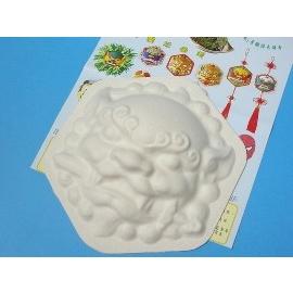 DIY彩繪獅頭面具.空白獅頭面具(六角獅頭)/一個{40}