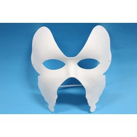 蝴蝶面具 彩繪面具 空白面具 DIY空白蝴蝶面具 紙漿面具 紙面具(附鬆緊帶)/一個入{定40}