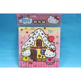 Hello Kitty凱蒂貓拼圖C678062 世一KT16片入幼兒拼圖(糖果屋) MIT製/一個入{特50}~正版授權~