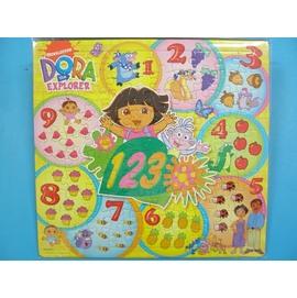 朵拉數字拼圖.幼兒卡通拼圖DA-009(大方形100片拼圖/加厚)MIT製/一組{120}