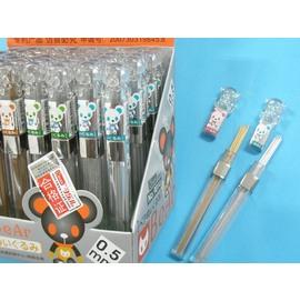 鉛筆芯NO.9014可樂兒小熊頭鉛筆芯0.5mm(透明桿)2B/一筒入{促10}