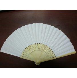 10英吋半空白扇子 彩繪扇子 25cm手繪扇(日本扇子.大紙摺竹片單面紙)/一支入{定40}