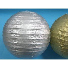 8吋銀色燈籠 空白燈籠 彩繪燈籠 空白紙燈籠 圓形燈籠 DIY燈籠(銀色)直徑20cm/一個入{定50}